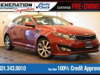 Red 2012 Kia Optima SX FWD 6-Speed Automatic with