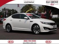 Clean CARFAX. White 2012 Kia Optima SX FWD 6 Speed