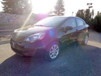 Our 2012 Kia Rio LX in Black boasts an eye-catching