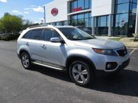 New Price! Clean CARFAX. Bright Silver 2012 Kia Sorento