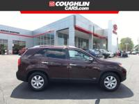 Recent Arrival! This 2012 Kia Sorento LX in Maroon