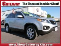 New Price! Clean CARFAX.Bright Silver 2012 Kia Sorento