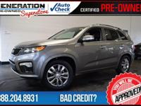 Sorento SX, Titanium Silver, Black Leather, and 2012