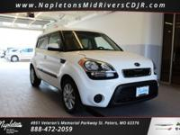 This 2012 Kia Soul in Clear White includes, 4D