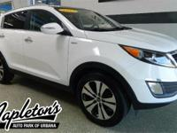 Recent Arrival! 2012 Kia Sportage in White, BLUETOOTH,