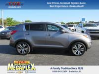 This 2012 Kia Sportage EX in Mineral Silver is well