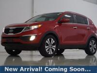 2012 Kia Sportage EX in Signal Red, This Sportage comes