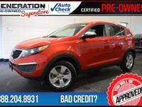 4D Sport Utility and 2012 Kia Sportage. Are you READY