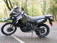2012 Kawasaki KLR 650 Dual Sport motorcycle with simply