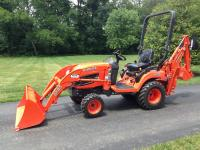 Kubota tractor diesel with 3 attachments 46 inch belly