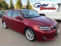 Clean CARFAX. This 2012 Lexus CT 200h stands out in the