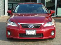 Options:  2012 Lexus Ct 200H|Matador Red Mica/Black|V4