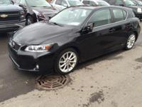 2012 Lexus CT 200h in Obsidian, Clean Carfax, Leather,