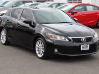 New Price! CARFAX One-Owner. Obsidian 2012 Lexus CT