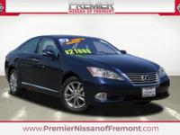 CARFAX One Owner. Deep Sea Mica 2012 Lexus ES 350 FWD 6