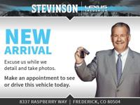 Certified. Stevinson Lexus of Frederick is offering