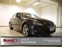 This SPORTY, yet LUXURIOUS, ONE OWNER, 2012 LEXUS IS250