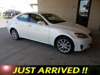 IS 250 trim. Lexus Certified, Clean, GREAT MILES
