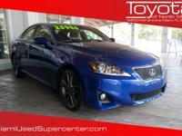Options:  2012 Lexus Is 250 250|Blue/Black|V6 2.5L
