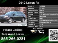 Call Tom Wood Lexus at  Stock #: 14369A Year: 2012