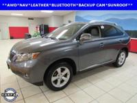 LEATHER, NAVIGATION, SUNROOF, RX 350, 4D Sport Utility,