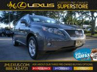 Gets Great Gas Mileage: 25 MPG Hwy!!! Lexus CERTIFIED*