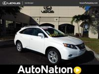 2012 Lexus RX 450h CERTIFIED HYBRID One Owner