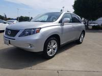 Options:  2012 Lexus Rx 450H Fwd 4Dr Hybrid|Silver|What