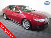 2012 Lincoln MKS Base with a 3.7L V6 Engine. Leather