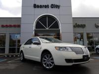 CARFAX One-Owner. Clean CARFAX. White 2012 Lincoln MKZ