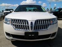 Options:  2012 Lincoln Mkz|White Platinum Metallic