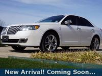2012 Lincoln MKZ Luxury Sedan in White Platinum