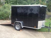 2012 LOOK 5X8 TRAILER. BACK DOOR RAMP WITH ALL THE