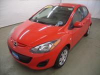 True Red exterior and Black interior, Sport trim.