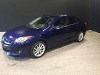 2012 Mazda Mazda3 s in Indigo Lights Mica, Leather, and