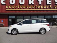 Feast your eyes on this white 2012 Mazda MAZDA5 Sport!