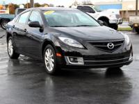 Clean CARFAX. This 2012 Mazda Mazda6 i in Ebony Black