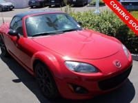 Clean CARFAX. Red 2012 Mazda Miata PRHT Special Edition