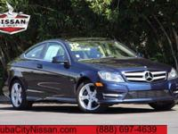 2012 Mercedes-Benz C-Class Blue  CARFAX One-Owner.