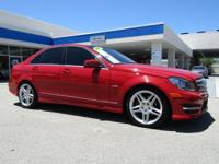*AMG Wheels * Sporty * Luxury **2012 Mercedes C250**Red