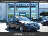 2012 Mercedes-Benz C250 Luxury BLACK n TAN Stk No:
