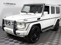 2012 MERCEDES CERTIFIED G550. ONLY 33K MILES. WHITE