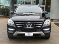Options:  2012 Mercedes M-Class Ml 350|Obsidian Black