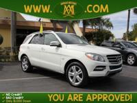 Options:  2012 Mercedes M-Class Ml350 Is A 100% Carfax
