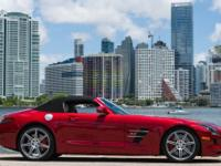 2012 Mercedes SLS Roadster. Finished in LeMans Red with