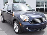 Clean CARFAX. Absolute Black Metallic 2012 MINI Cooper