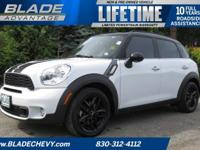 S Countryman, 32/26 Highway/City MPG Air Conditioning,