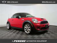 Red and Ready! Turbo! This terrific 2012 Mini Cooper S