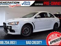 Lancer Evolution MR, AWD, Wicked White, and 2012