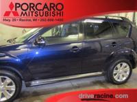 Options:  2012 Mitsubishi Outlander Se|Blue|One Of The